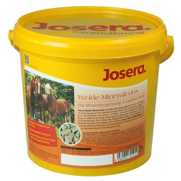 Josera Weide Mineralcobs 3kg barība zirgiem