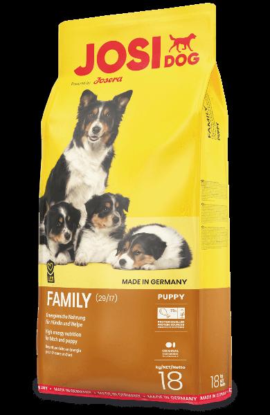 Josera Premium suņiem JosiDog Family 18 kg dog dry food