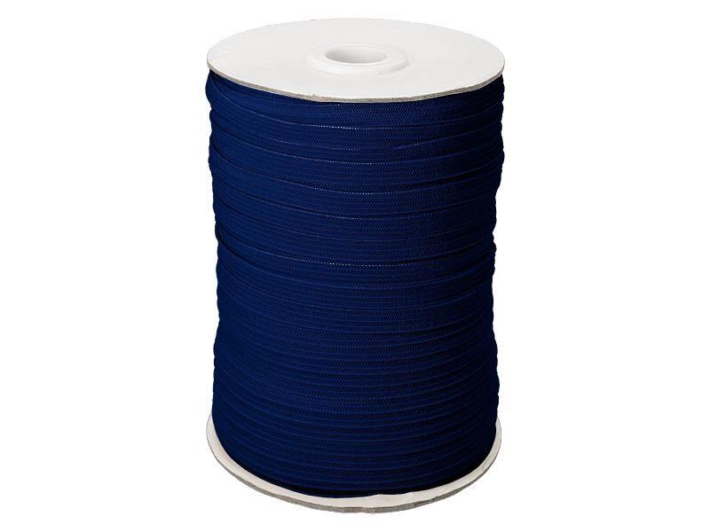 Elastīga poliestera lenta 7 mm 100 m zila