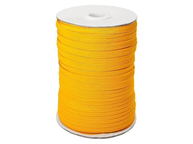 Elastīga poliestera lenta 7 mm 100 m dzeltena