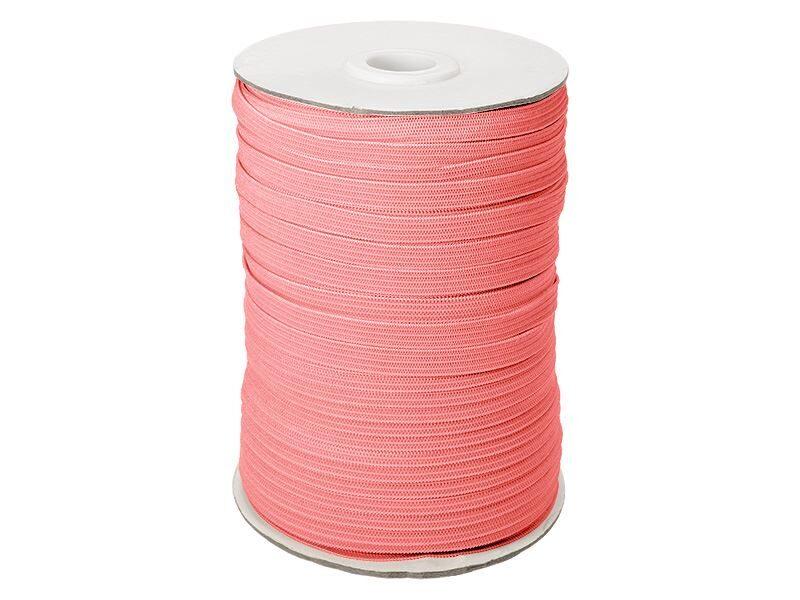 Elastīga poliestera lenta 7 mm 100 m rozā