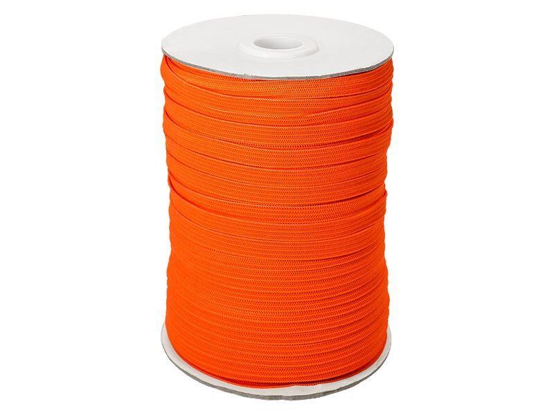 Elastīga poliestera lenta 7 mm 100 m oranža