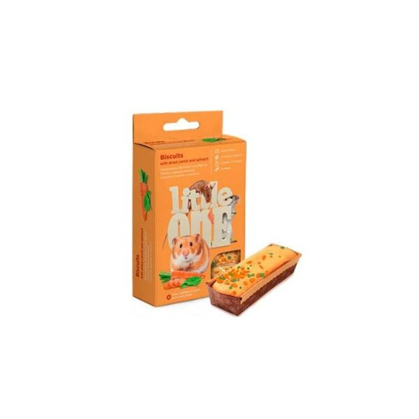 Little One Biscuits with carrot and spinach for small animals 5х7g in box