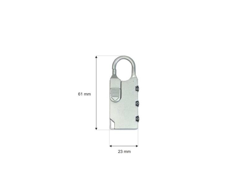 Metal padlock combination lock 007
