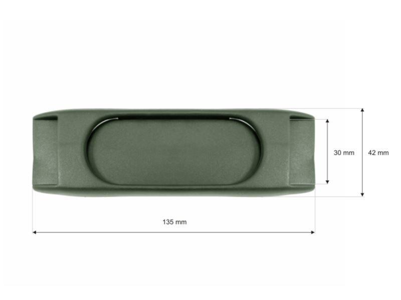Plastmasas plecu paliktnis 30/135 mm olīvu 100 gab.