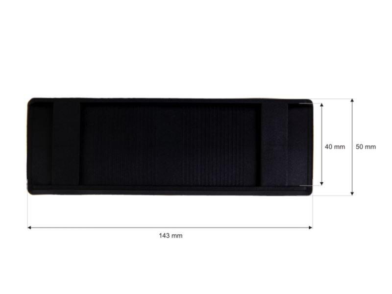 Plastmasas plecu paliktnis 40/143 mm melns 200 gab.