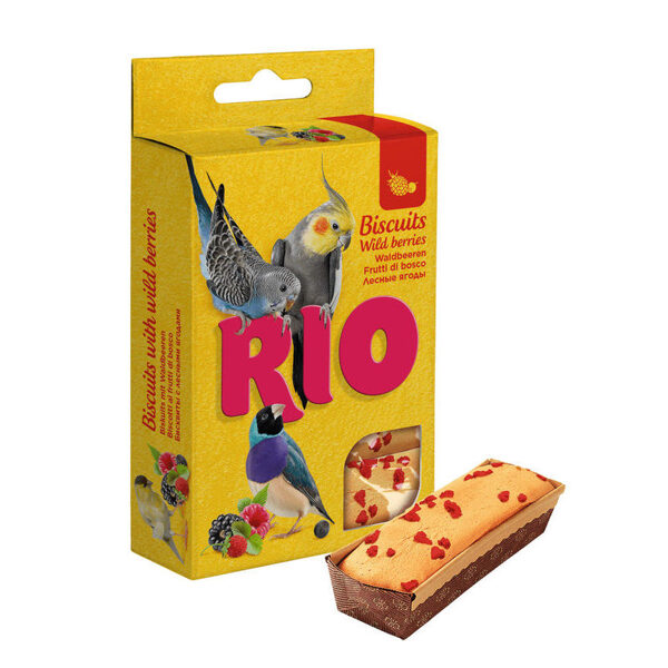 RIO Biscuits with wild berries for all types of birds 5x7g cepumi ar meža ogām