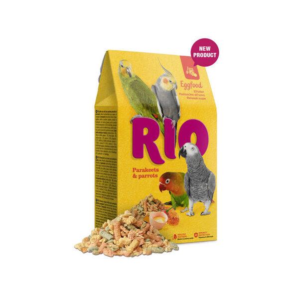 RIO Eggfood for parakeets and parrots 250g barība ar olām mazajiem papagaiļiem un papagaiļiem