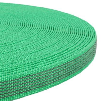 Polipropilēna lenta ar gumiju Zaļa 15 - 25 mm
