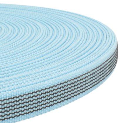 Polipropilēna lenta ar gumiju Debesu zila 20 mm