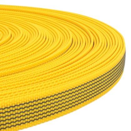 Polipropilēna lenta ar gumiju Dzeltena 15 - 25 mm