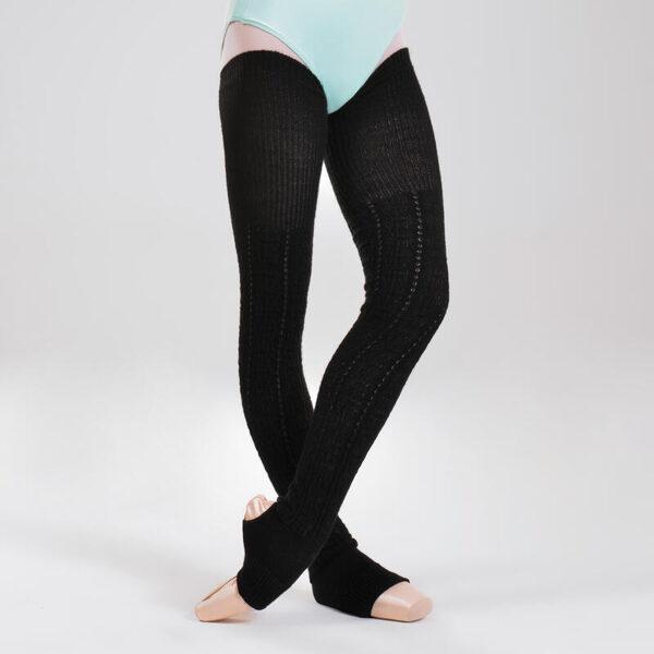 long leg warmers black