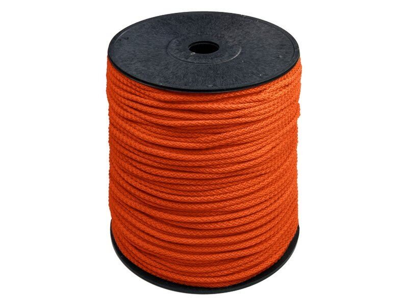 Oranža poliestera aukla 5,5mm 200 m