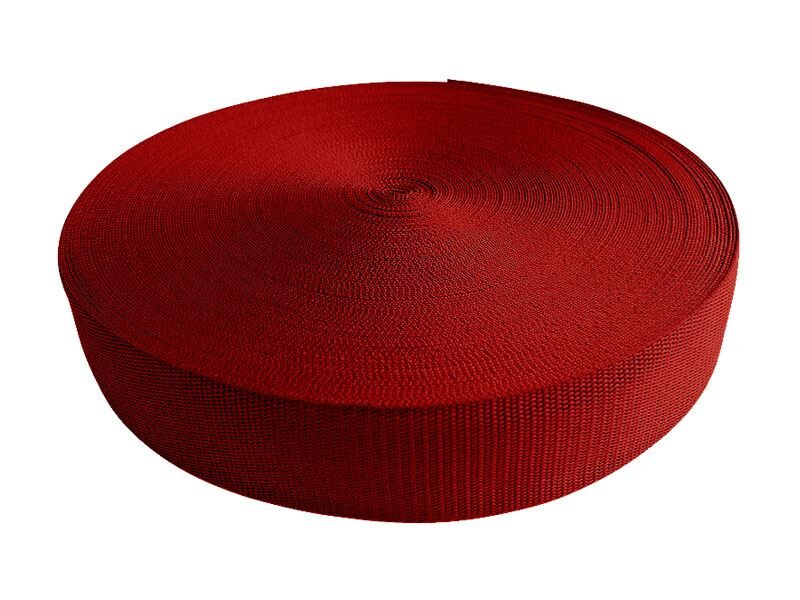 Polipropilēna lenta 50 mm sarkana 50 m
