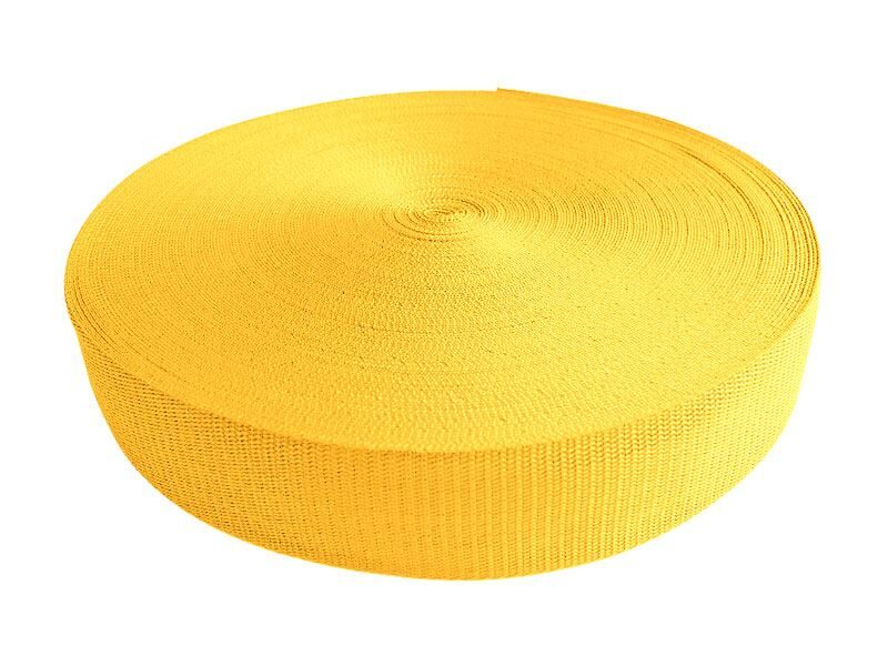 Polipropilēna lenta 50 mm dzeltena 50 m