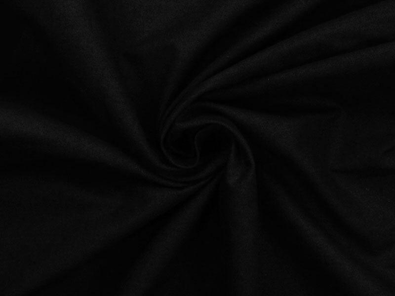 Kokvilnas audums 150 cm melns 100 m