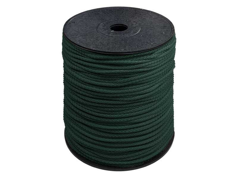 Tumši zaļa poliestera aukla 5,5mm 200 m